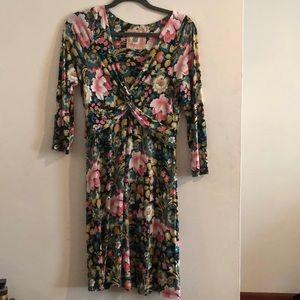 Jersey Anthropologie Dress Green Floral